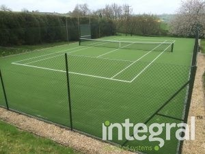 Synthetic grass tennis courts
